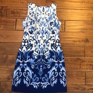 Printer shift dress